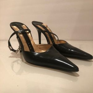 Richard Tyler Shoes - Richard Tyler Black Sling Back Heels Pumps Shoes